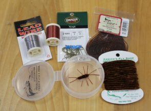 Tying kit for brown rubber legs
