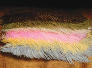 "Ostrich Herl  10 to 12"" plumes"