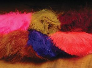 Marabou Strung Blood Quills 1 oz package