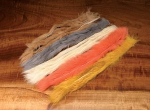 Natural and Dyed Rabbit Strips