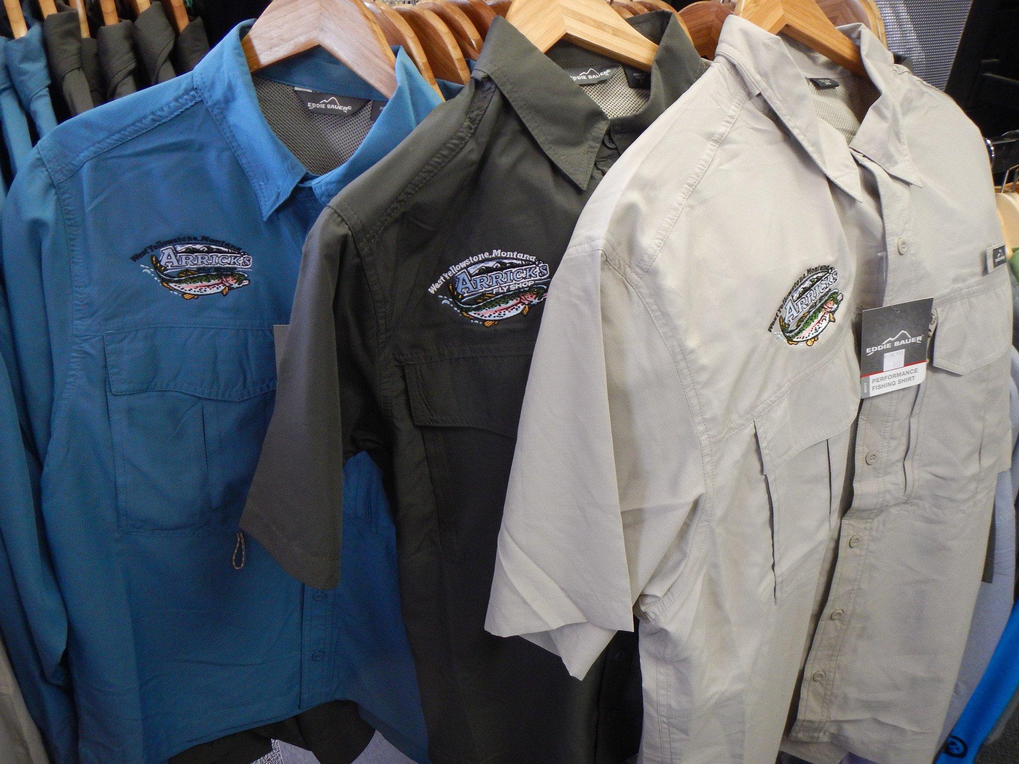Eddie Bauer short sleeve fishing shirt